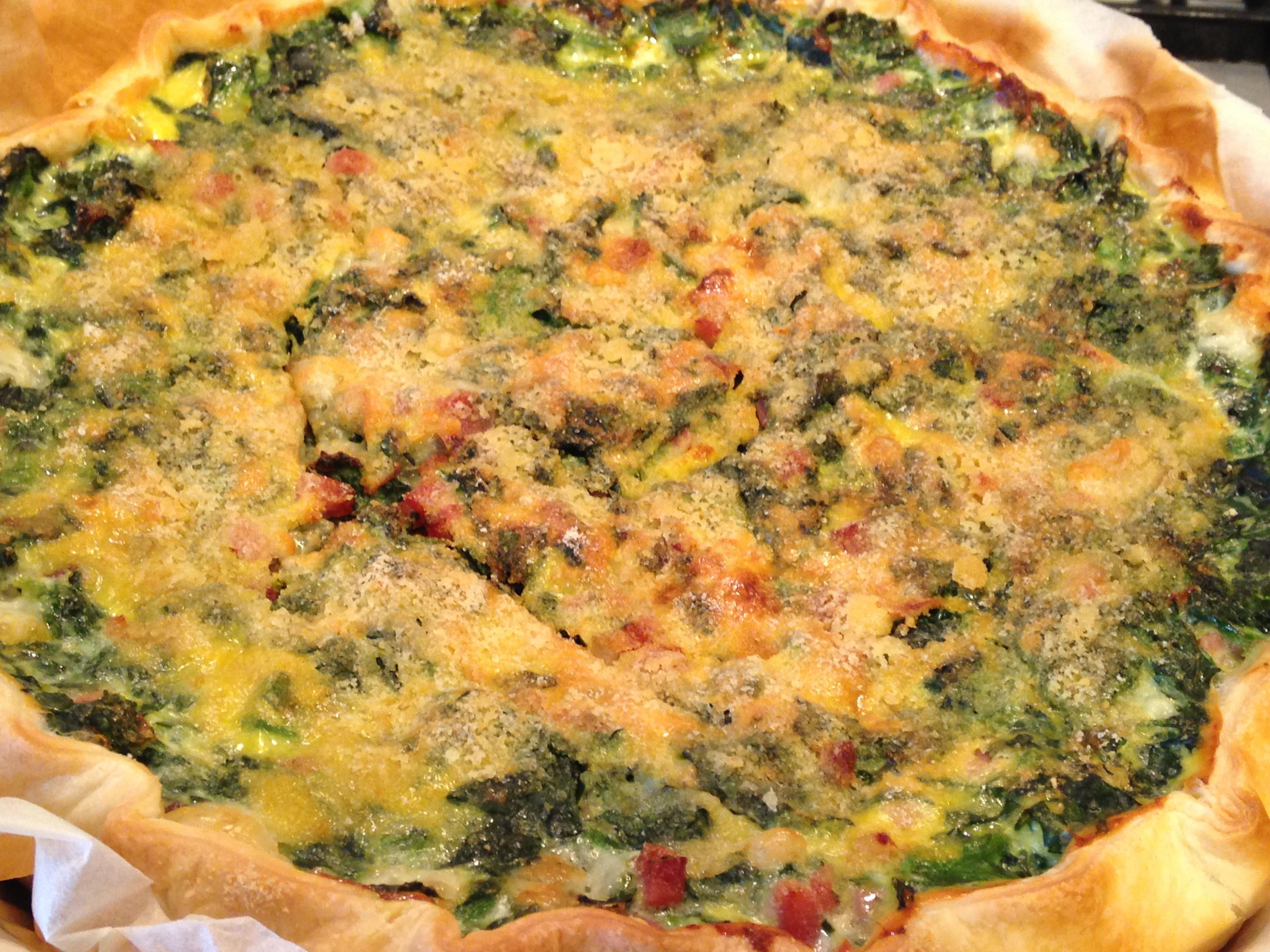 torta salata con speck e spinaci