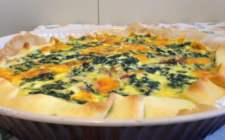 Quiche con spinaci ricotta e cheddar (ricetta secondo piatto)