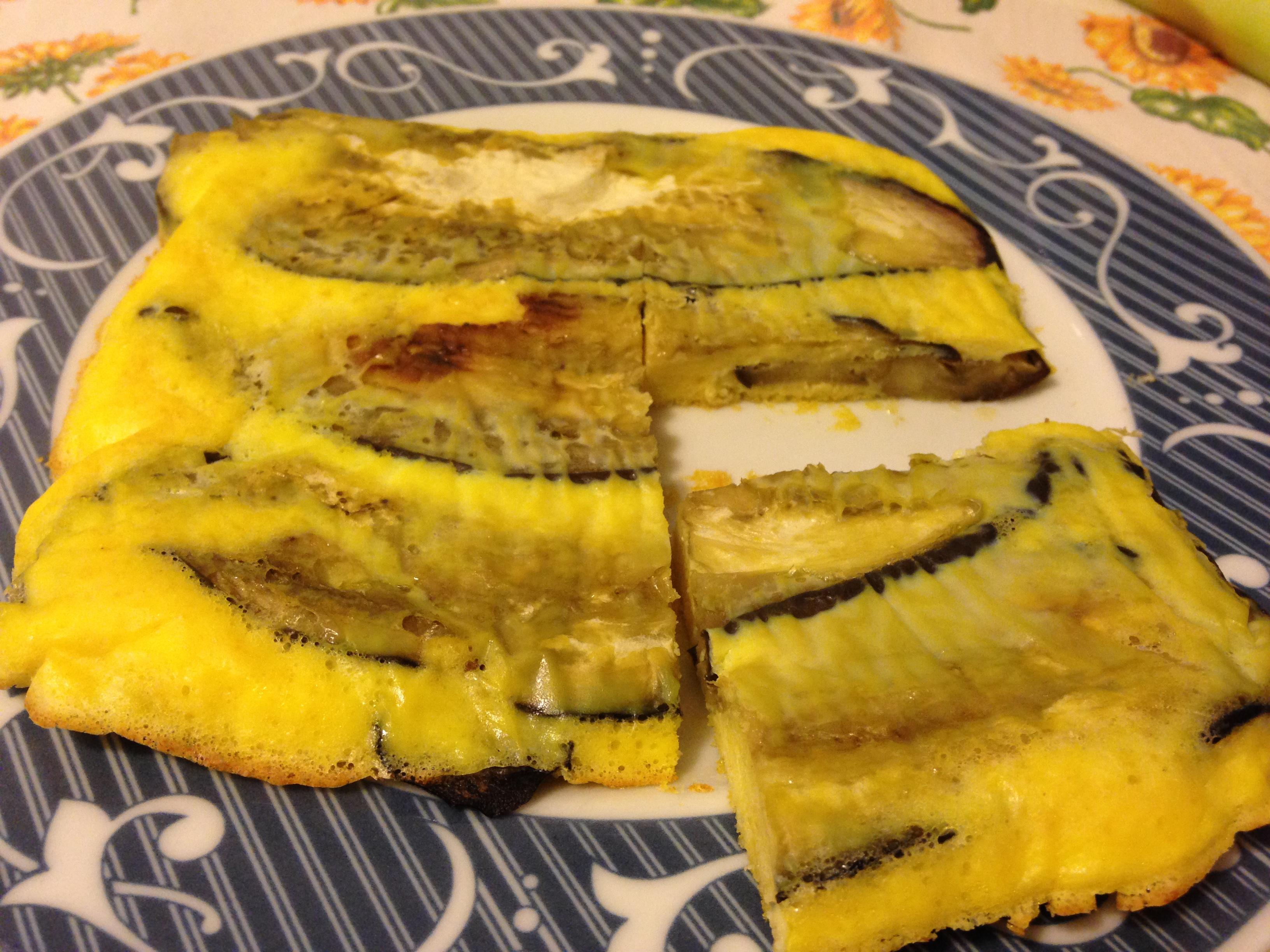 frittata con melanzane