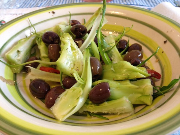 insalata di puntarelle e olive