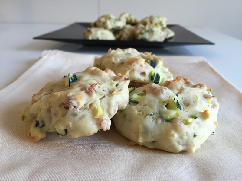 focaccine con speck e zucchine
