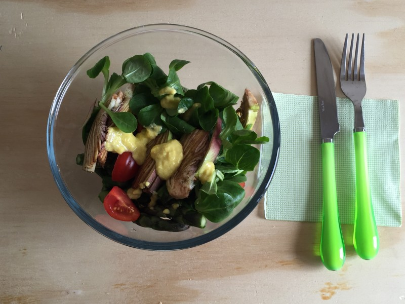 insalata di carciofi e asparagi
