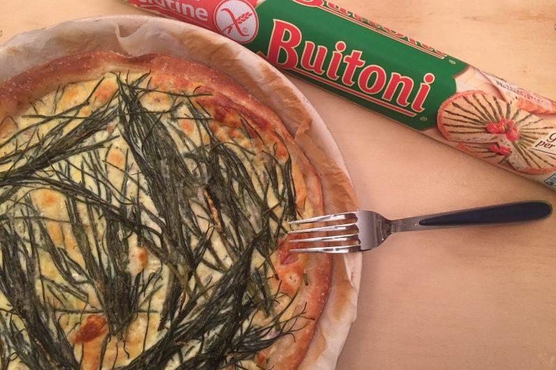 Quiche senza glutine con agretti, speck e robiola al tartufo