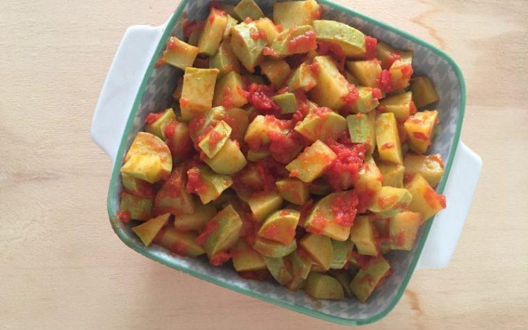 Zucchine trombetta al pomodoro