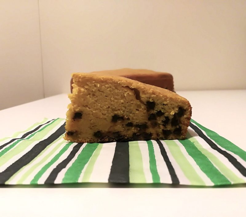 torta con zucca e gocce di cioccolato