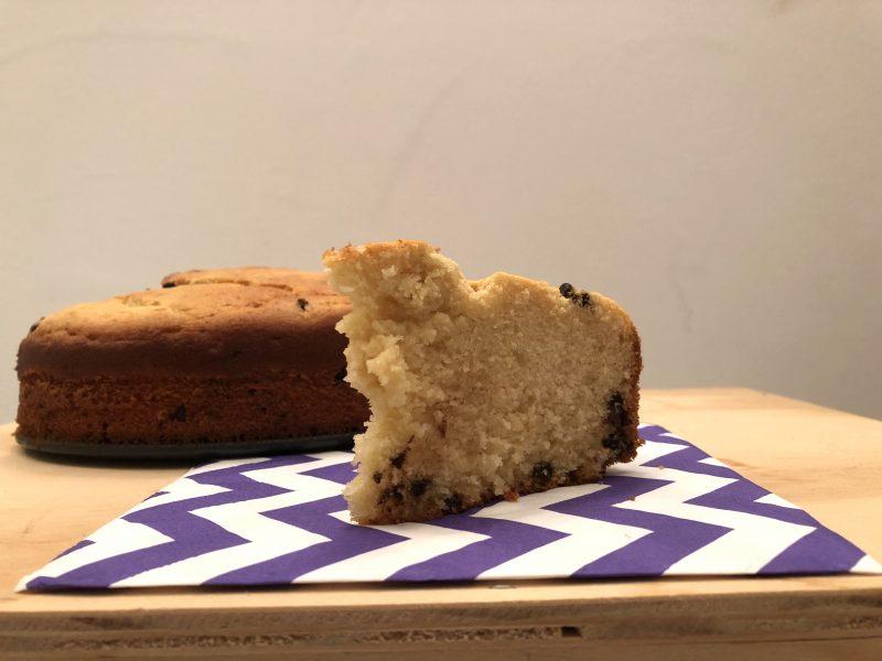 torta con ricotta e gocce di cioccolato