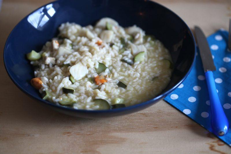 risotto con capesante e zucchine