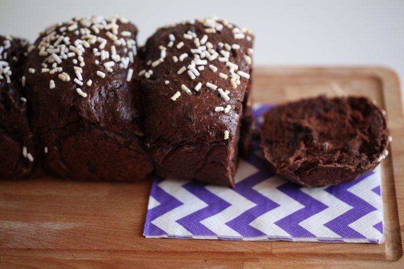 Pan brioche al doppio cioccolato