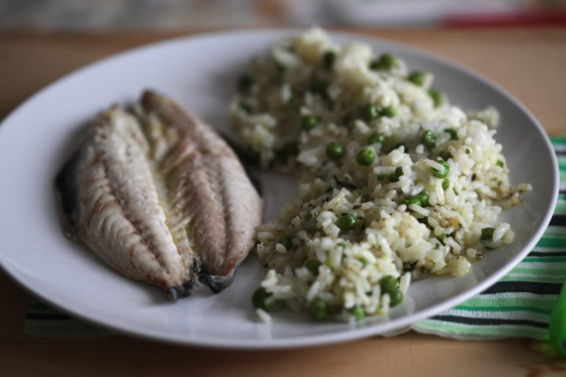 Tris di riso branzino e piselli (ricetta Bimby)