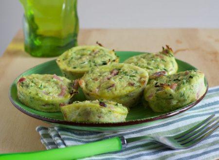 Frittatine con zucchine e speck