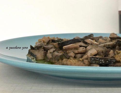 Scaloppine ai funghi senza burro e con semola integrale