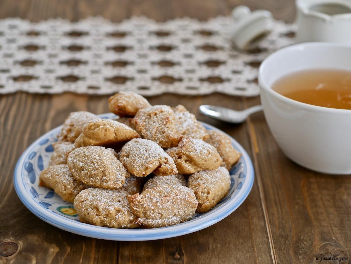 Biscotti integrali al limone senza burro, senza latte e senza uova
