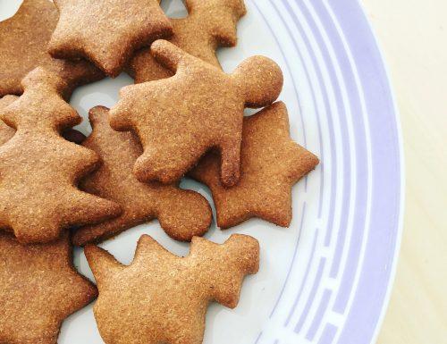 Biscotti integrali alla cannella senza burro, latte e uova
