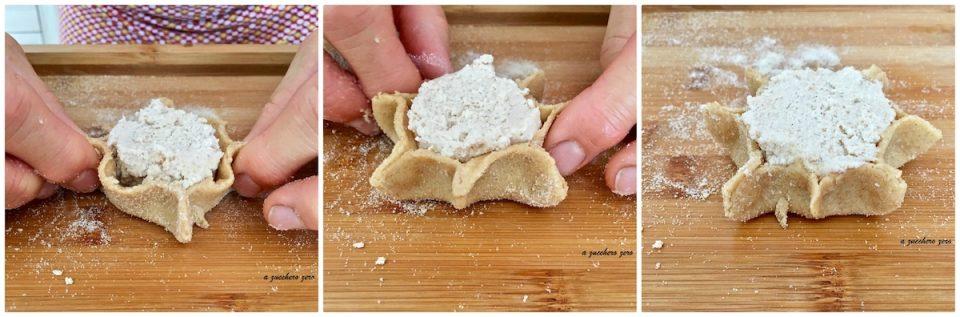 Cassatelle di ricotta integrali senza strutto e uova