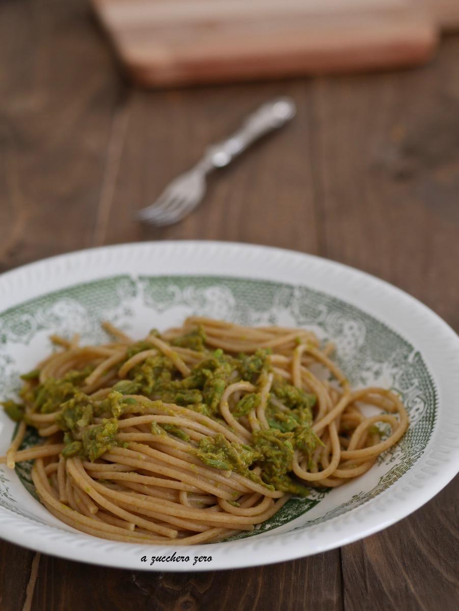 Pasta integrale con asparagi selvatici