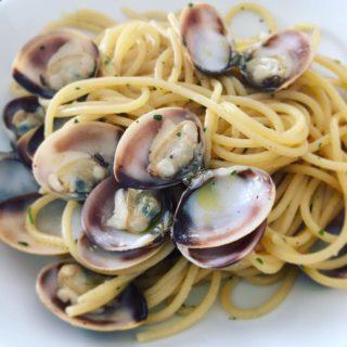 Spaghetti con le vongole risottati