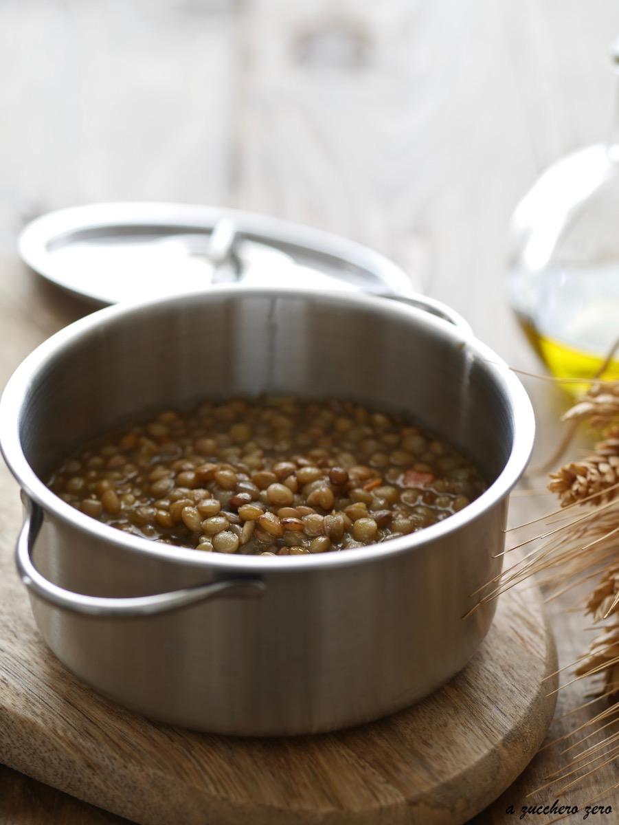 Cucinare le lenticchie ricetta base a zucchero zero - Cucinare le lenticchie ...
