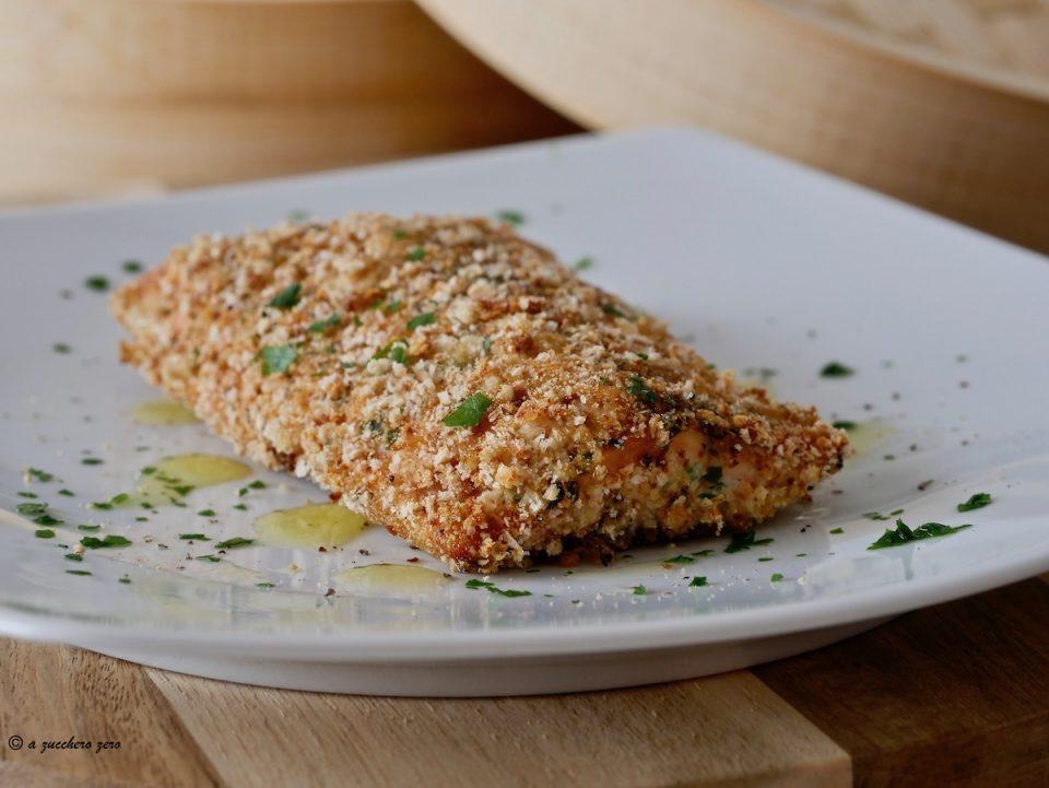 Filetto di salmone panato al forno