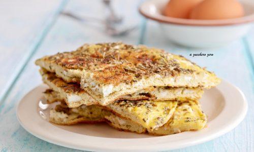 Frittata agli aromi cotta senza olio [senza formaggio]