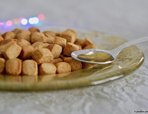 Biscotti integrali per struffoli e pignolata senza burro, senza latte e senza uova