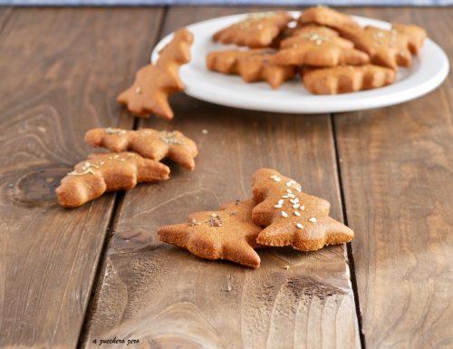 Biscotti integrali speziati alla curcuma con erbe aromatiche e semi misti