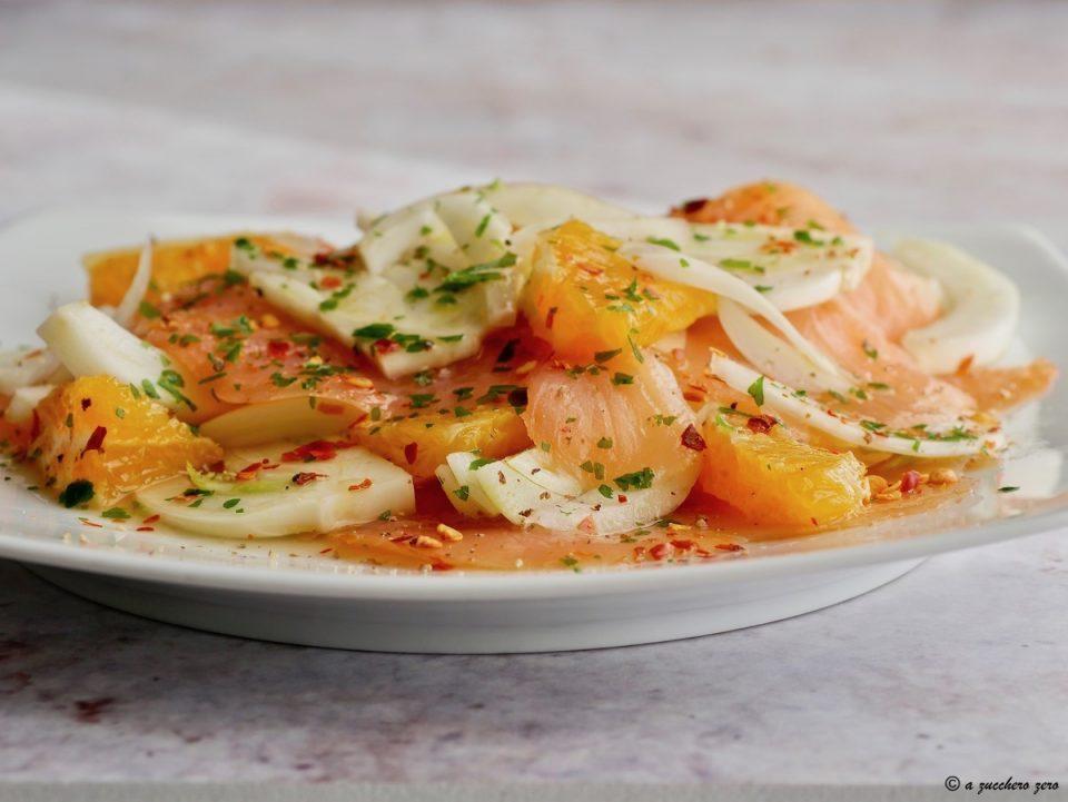 Insalata di salmone con arance e finocchi