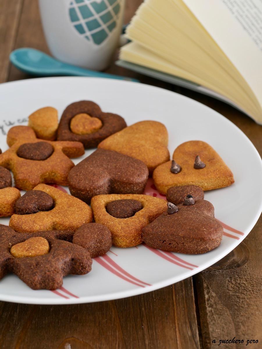 Biscotti bicolore integrali senza burro latte e uova