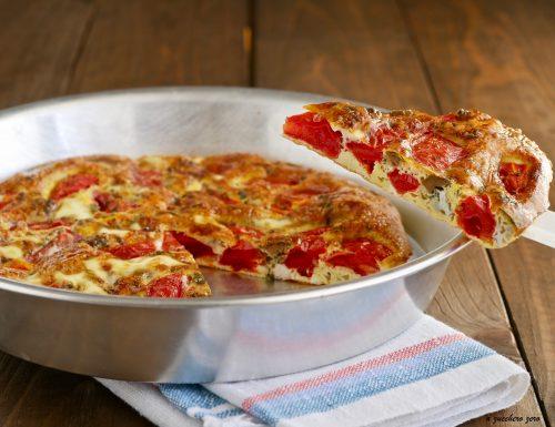 Frittata al forno con pomodorini e olive