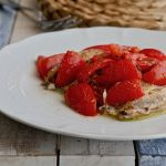 Alici al forno con pomodorini e origano