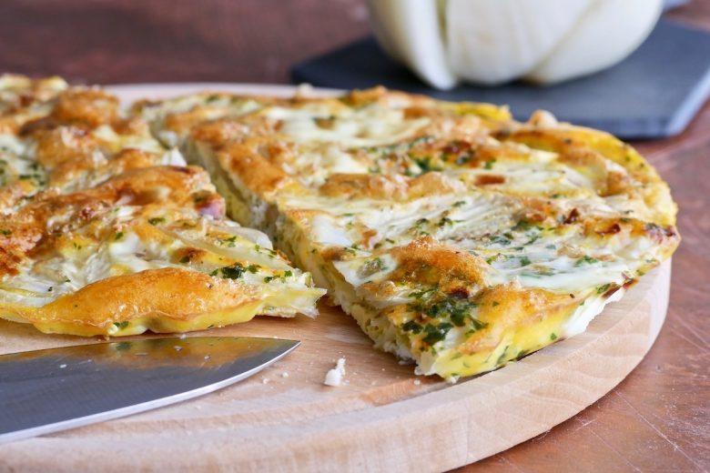 Frittata al forno con finocchi senza formaggio