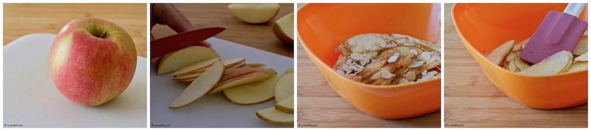 Ripieno di mele e mandorle