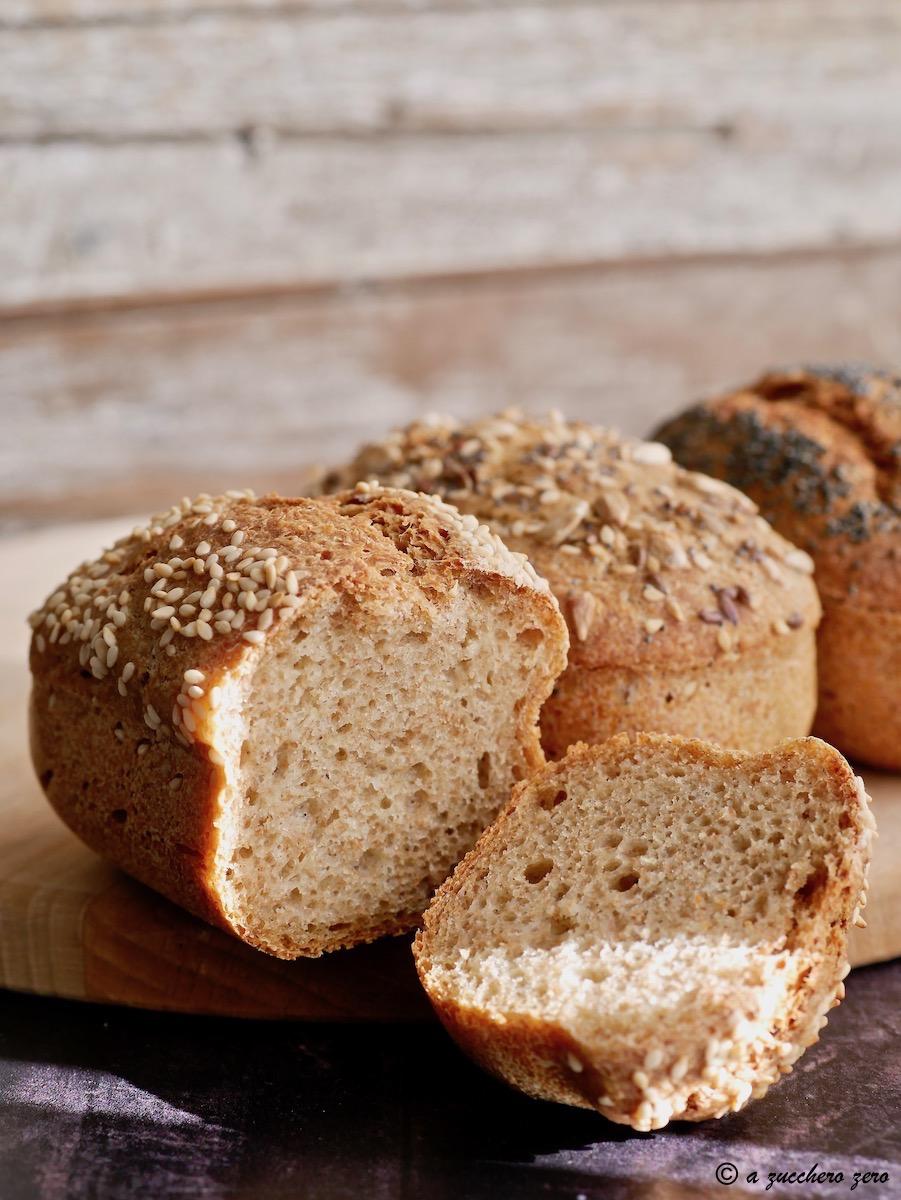 Pane con poco lievito poolish integrale ai tre cereali