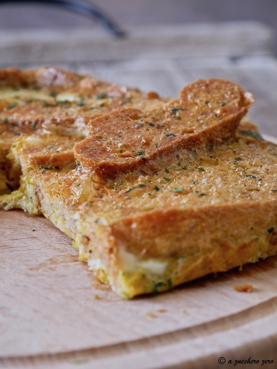 Frittata di pane integrale al forno