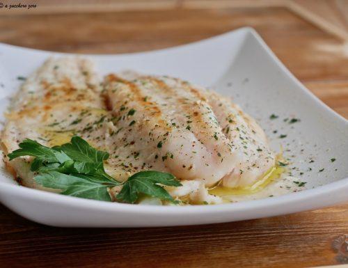 Filetto di pesce persico alla griglia