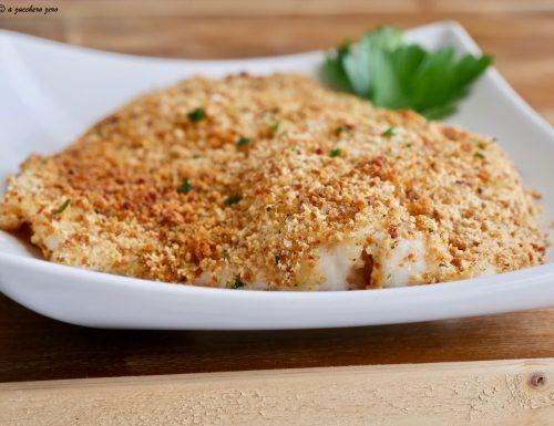 Filetto di pesce persico gratinato al forno
