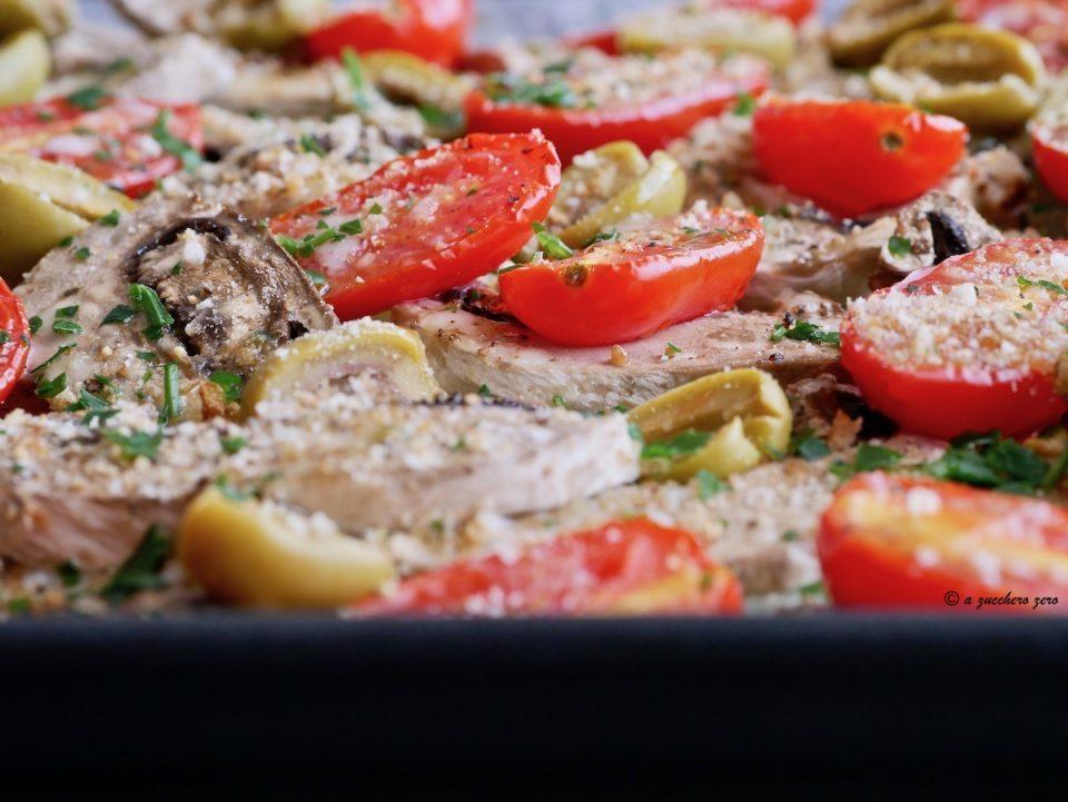 Verdure al forno gratinate light