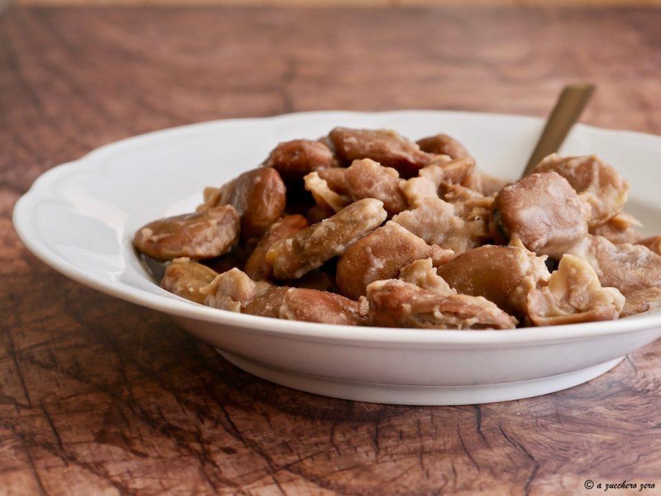 Cucinare le fave secche con la buccia ricetta base
