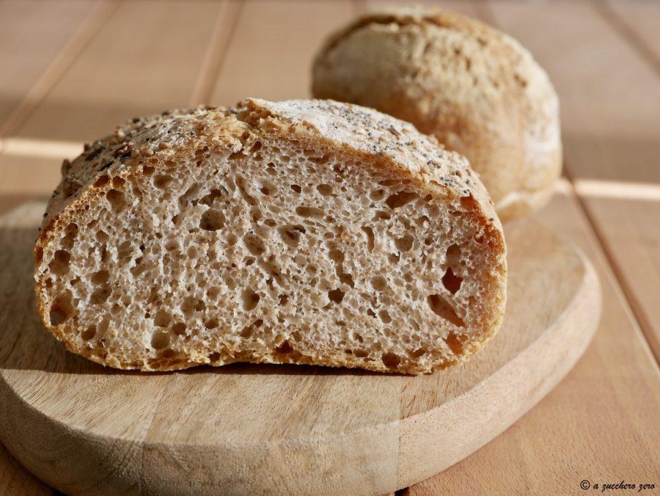 Pane con farina integrale di grano tenero e di tipo 2