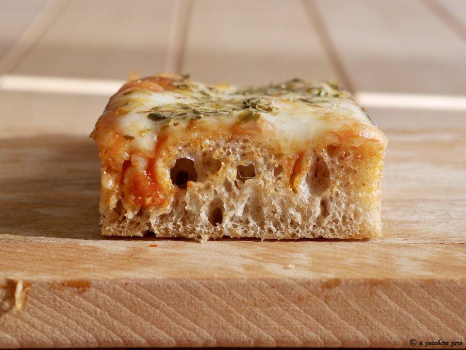 Pizza con farina integrale di grano tenero e di tipo 2