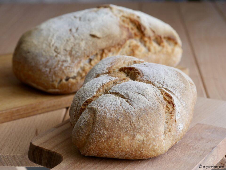 Pagnotte fatte in casa con macchina del pane metodo poolish