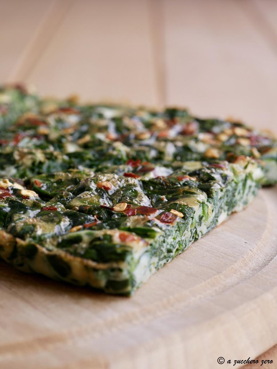Frittata al forno con spinaci senza formaggio