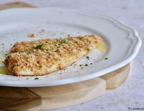 Filetti di platessa impanati light al forno