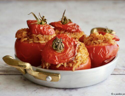 Pomodori ripieni di riso integrale deamidato