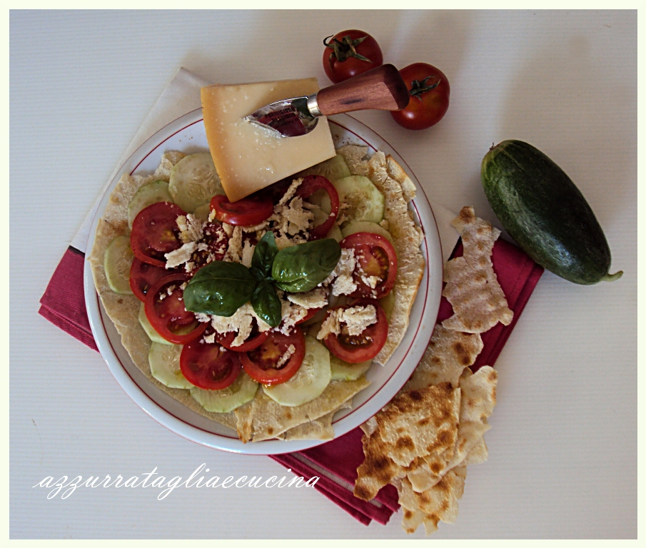 Carasau e Parmigiano Reggiano in carpaccio