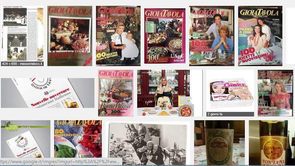 collage riviste di gioia tavola