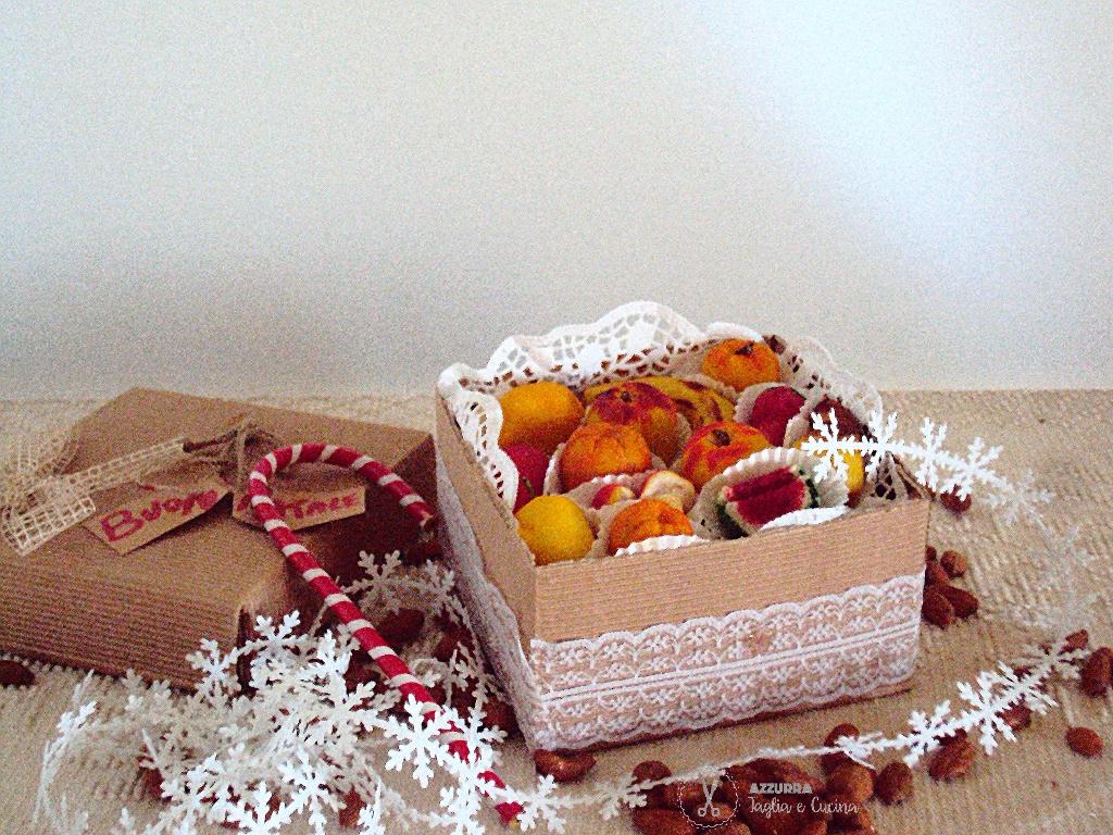 frutta martorana confezione natalizia