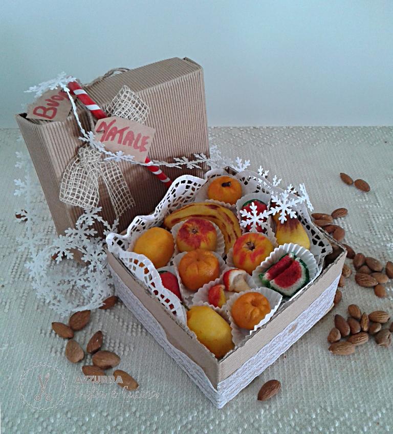 frutta martorana confezione natalizia in scatola