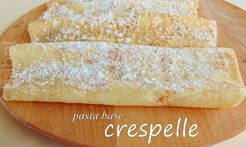 Crepes dolci e salate Paste base