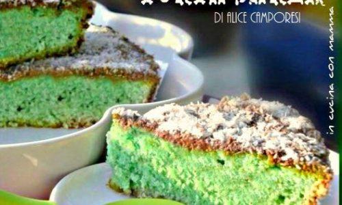 Torta shrek con menta, nutella  e cocco
