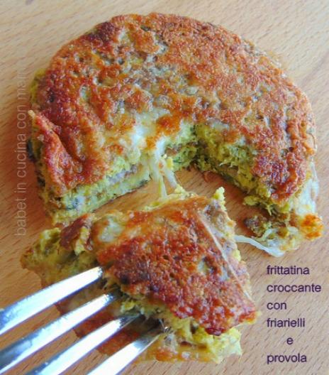 Frittatina di friarielli croccante